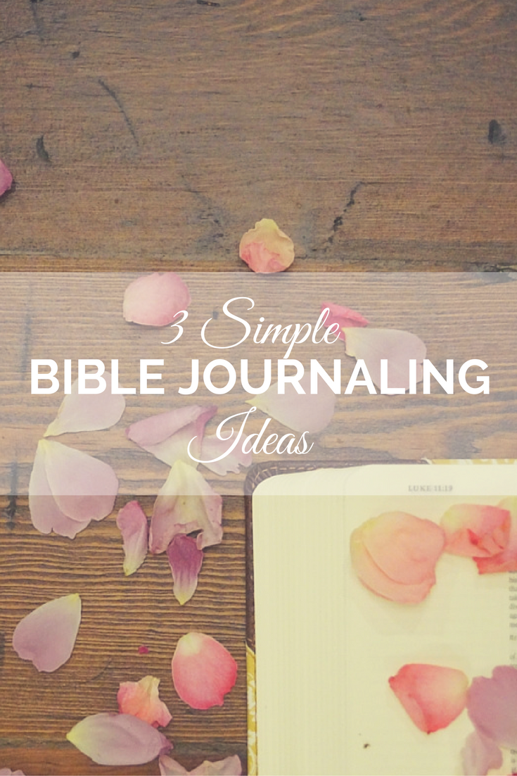 Need a jump start in your Bible journaling? Get started with these 3 simple Bible journaling ideas!