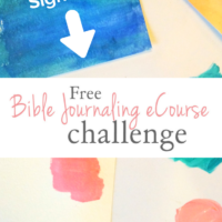 Ready to get started in the world of Bible journaling? Sign up for this free Bible journaling challenge!