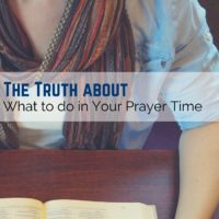 Wondering what you should be doing in your prayer time? Check out this article on prayer!