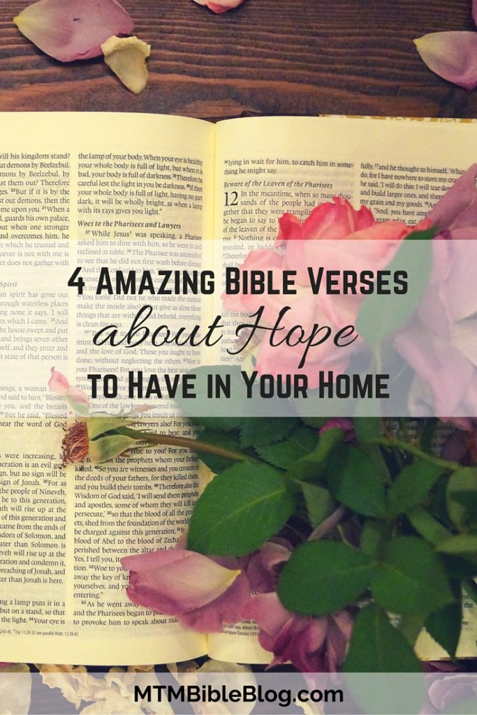 Looking for Bible art for your home? Check out these 4 Bible verses about hope as decor!