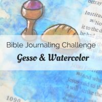 Tune into our Bible journaling video about gesso and watercolor.