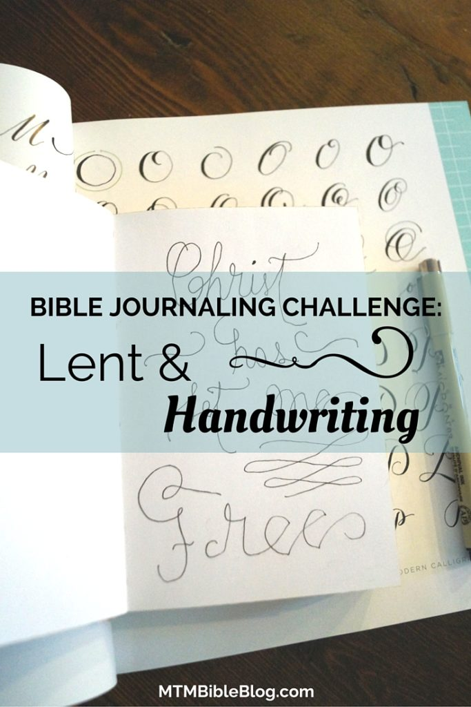 Join our Lenten study while we enjoy a handwriting tutorial.