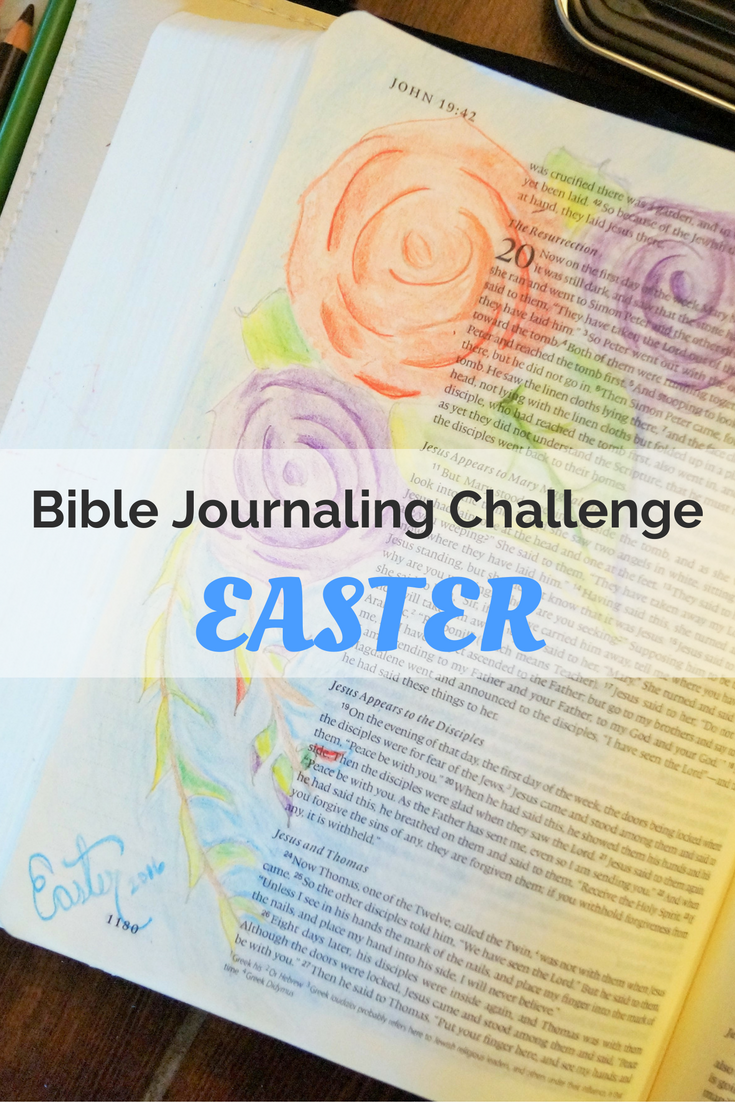 Easter Bible journaling challenge from Move the Mountains