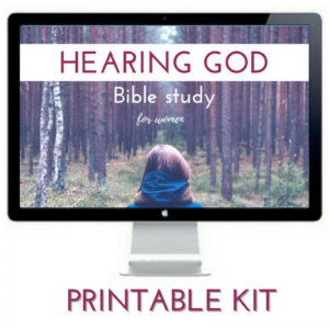 The Hearing God - Bible Study for Women is a step-by-step printable guide that will take you on a journey in Scripture to learn how to hear God's voice through Bible study, prayer, and journaling.