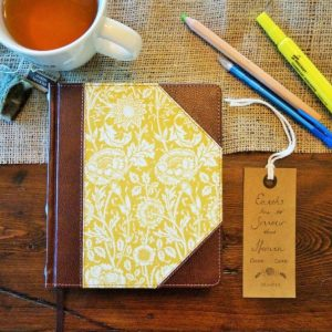 Looking for a beautiful personalized ESV Bible? Consider this yellow ESV journaling Bible. It can be personalized by having a name hand lettered on the first page.