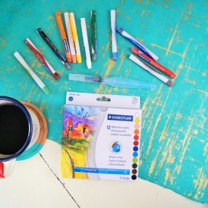 This set of 12 watercolour crayons are excellent for those new to painting and are safe for journaling Bibles.