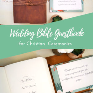 Looking for a personalized wedding Bible guestbook? This guestbook alternative is a beautiful option for Christian ceremonies!