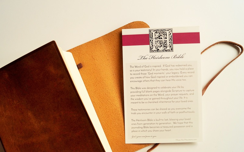 Personalized Family Bible - Give a gift that will last generations - Move  the Mountains