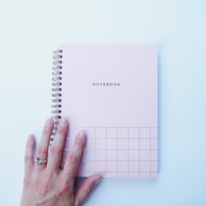 Looking for a lovely pink spiral notebook? This lay flat notebook features a rose gold foiled design for a classy look.