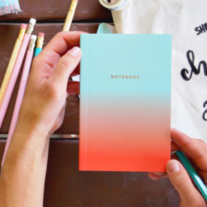 This vibrant teal notebook set of 2 features the petite size of 4x6, the perfect travel size.