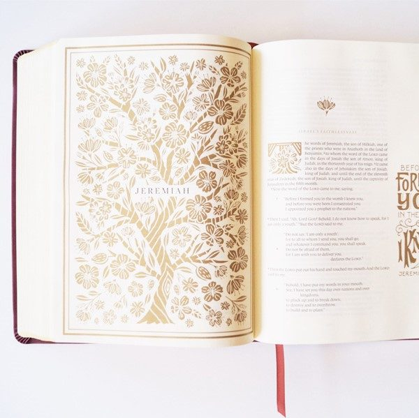 Discover the inspiring golden text of the Illuminated journaling Bible.