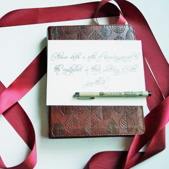 wedding bible guest book