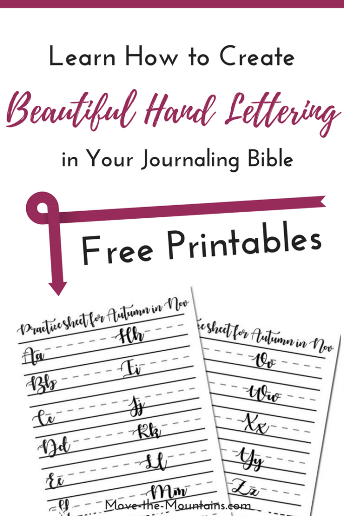 Have you been wanting to improve your hand lettering for Bible journaling? Check out Bible journaling teacher, Amanda Schenkenbergers, helpful tips on how to create beautiful hand lettering and a free printable!