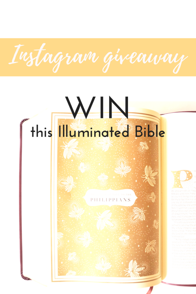 Have you seen the new Illuminated Bible yet? I'm hosting a giveaway, enter to win through Instagram!