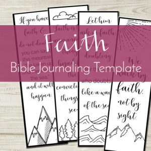 Looking for a creative and easy way to get into God's Word? Try our faith Bible journaling template!