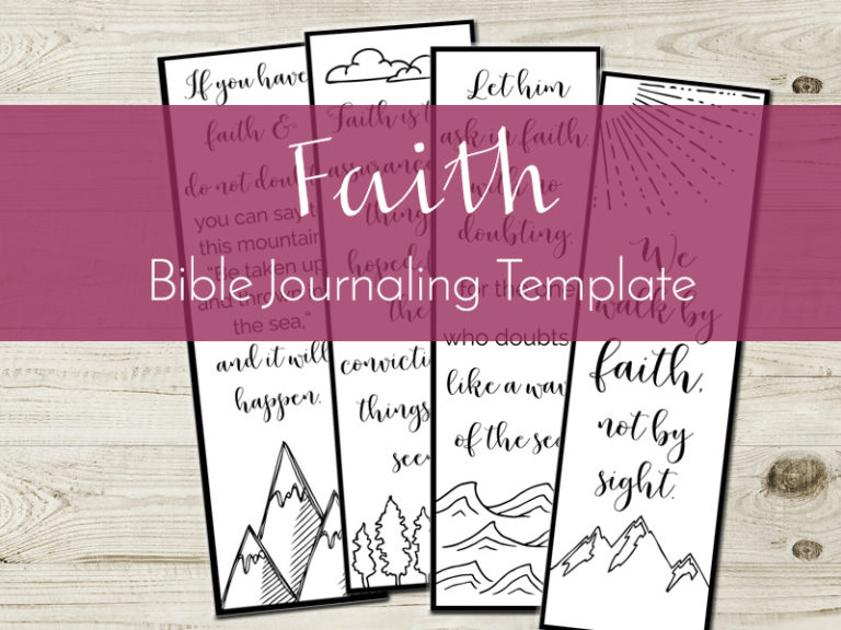 bible journaling template
