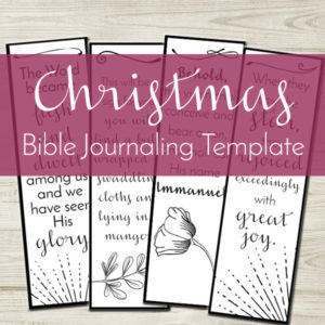 Have you been looking for a simple way to create art is your journaling Bible? Look no further! This Bible journaling template is easy-to-print and trace in your journaling Bible margins.