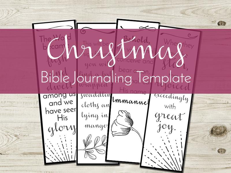 christmas bible journaling template listing