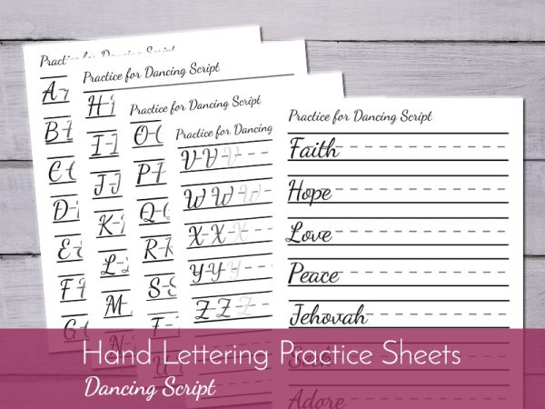 Hand lettering worksheets, practice your way to better hand writing!