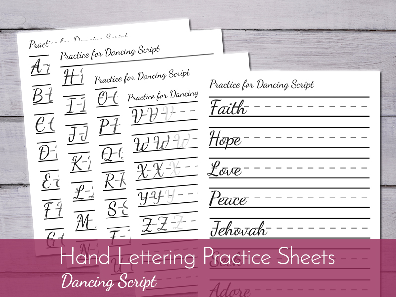 hand lettering printable worksheets