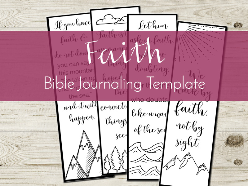 faith bible journaling template listing
