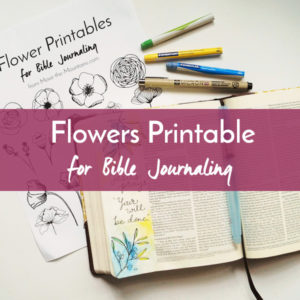 Are you excited about Bible journaling but don't feel like an artist? Let us lend a hand to your artistic process with this Bible journaling traceable of flowers!