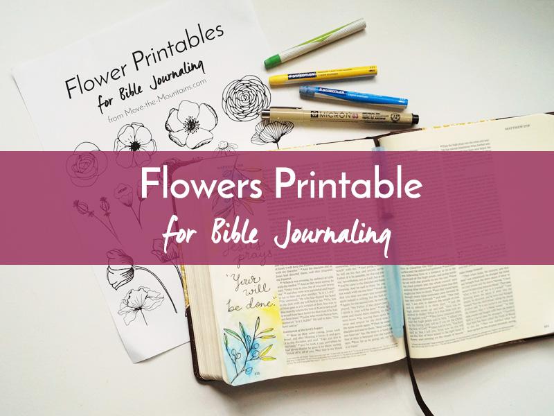 flowers printable listing
