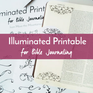 Are you excited about Bible journaling but don't feel like an artist? Let us lend a hand to your artistic process with this Bible journaling traceable of Illuminated elements!