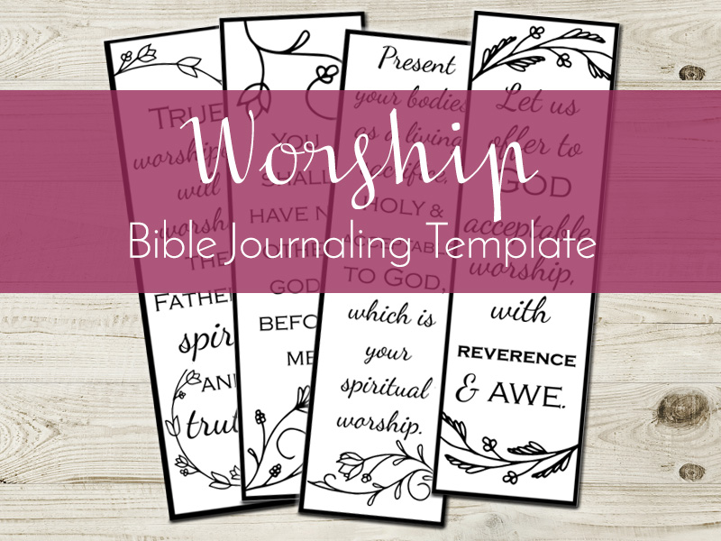 worship bible journaling template listing