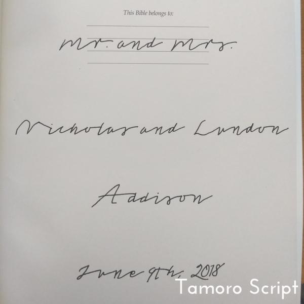 Tamoro Script