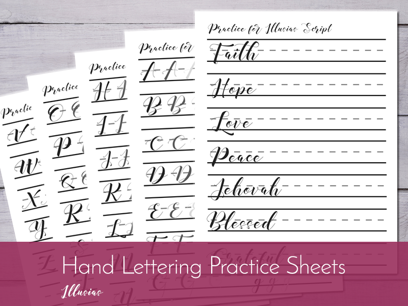 hand lettering worksheet illusias listing