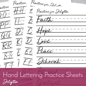 Have you been looking for hand lettering practice sheets? Look no further! Our sheets will help you practice flawless hand lettering!