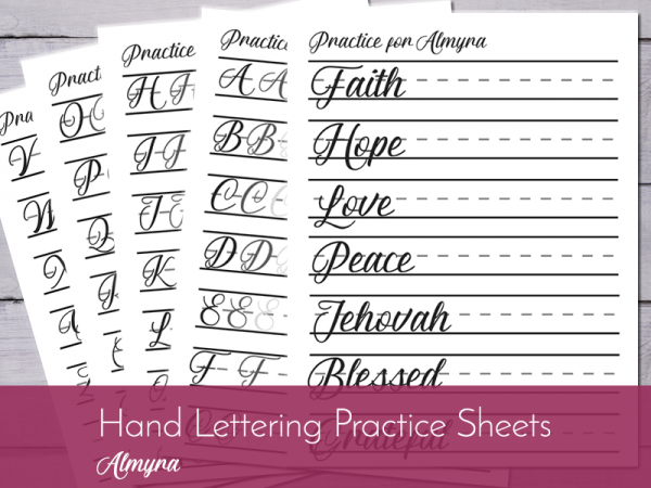 Improve your hand writing through hand lettering practice sheets!