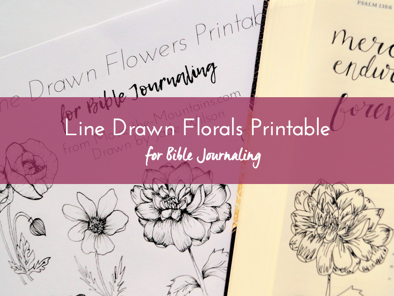 line drawn florals printable listing1