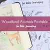 Make Bible journaling easy and cute with these little woodland animals that fit perfectly in your margins!