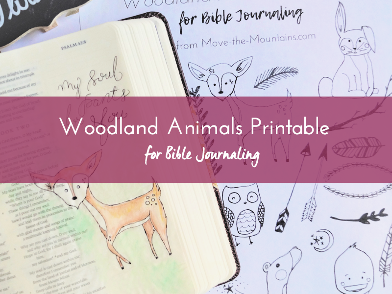 woodland animals printable listing 2
