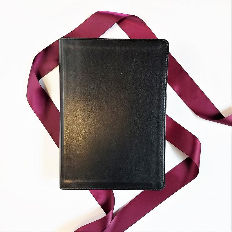 wedding bible guest book interleaved black