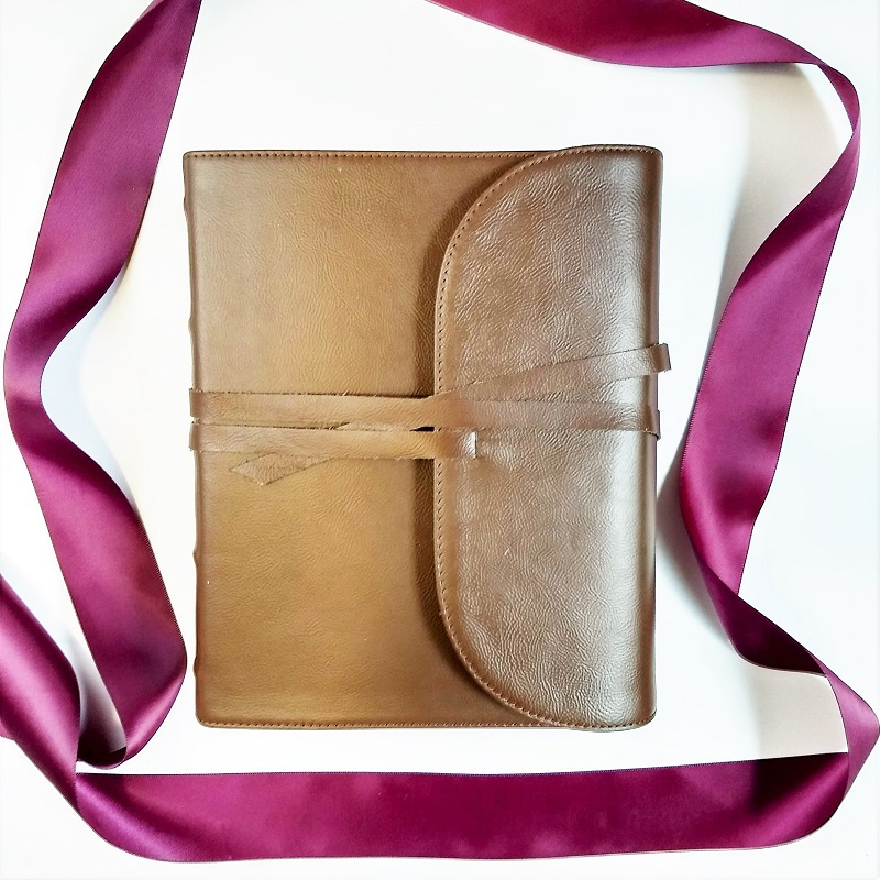 wedding Bible guest book leather kjv
