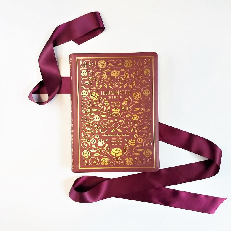bible wedding guestbook illuminated