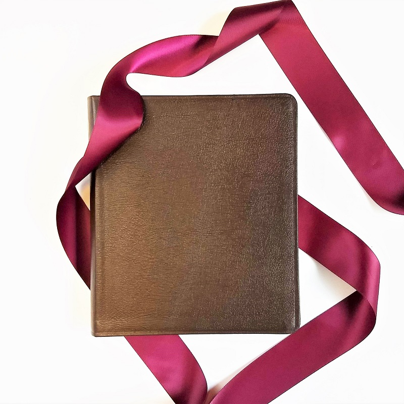 wedding bible guest book leather