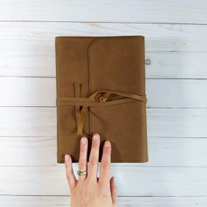 Looking for a personalized leather journaling Bible? How about one with full blank pages featured next to Scripture? If so, check out this ESV option!